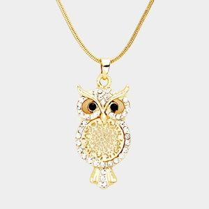 Jewelry crystal owl pendant necklace poshmark jewelry crystal owl pendant necklace aloadofball Gallery